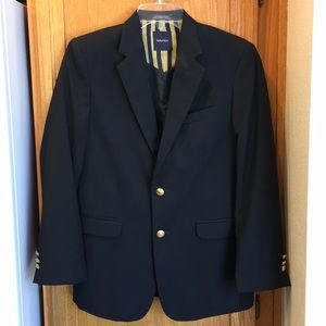 Nautica Navy Blue Gold Button Sports Coat Boy 16R